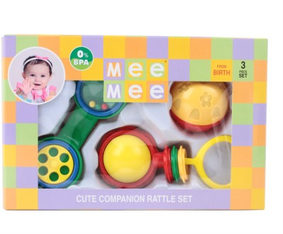 Mee Mee Rattles Gift Set - 3pcs (Ball) Rattle