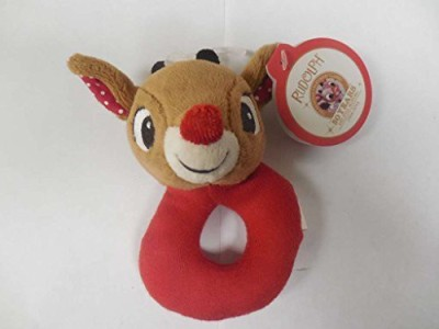 Kids Preferred Baby's First Christmas Ring Rattle - Rudolph Rattle(Multicolor)