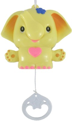 Sahibuy Baby First Musical Animal Pull String Toy Yellow Rattle