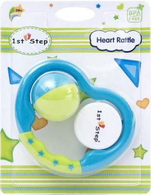 1st Step Heart Rattle Rattle(Multicolor)