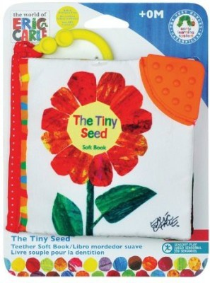 Eric Carle World of Tiny Seed Clip-On Soft Book by Kids Preferred Rattle