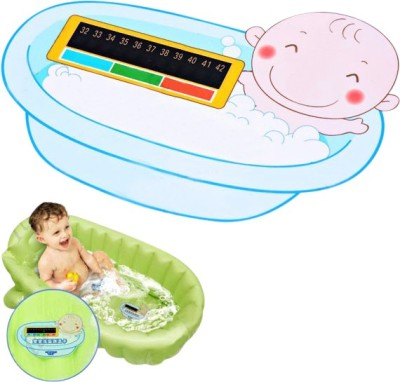 Futaba Card Plate Board for Babies Infants Bath Thermometer(Blue)