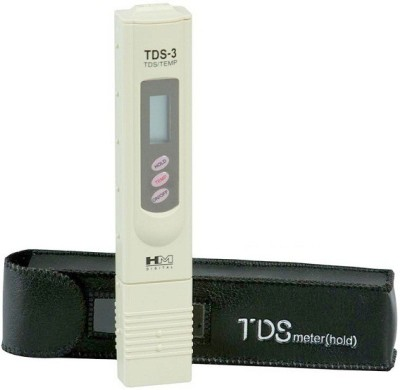 HM TDS Meter / Water Purity Tester with Leather Carry Case & Temperature Display for RO Service with Built-in Bath Thermometer