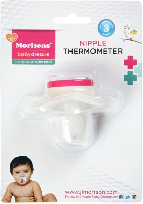 Morisons Baby Dreams Nipple Thermometer Bath Thermometer(White)