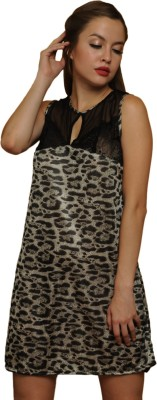 Clovia Animal Print Babydoll at flipkart