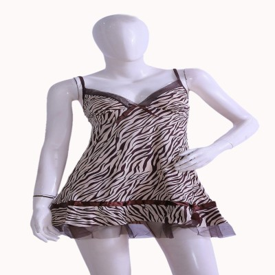 Private Affairs Animal Print Babydoll