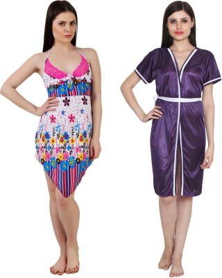 Ansh Fashion Wear Solid Babydoll at flipkart