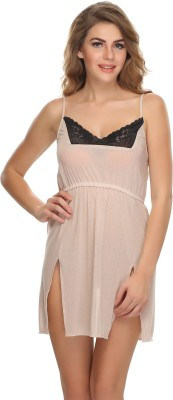 Clovia Women's Nighty(Beige) at flipkart