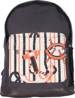 Kanvas Katha Fashion Canvas Printed 15 L Backpack(Grey)