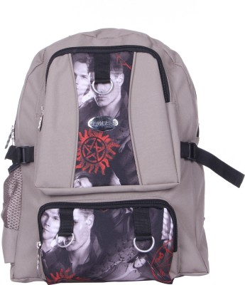 Compass Printed Dual Pocket Pattern 27 L Backpack