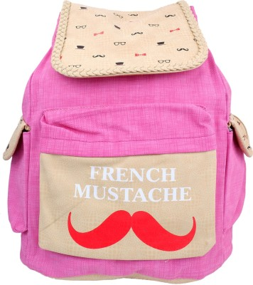 Super Drool French Mustache Pink 12 L Backpack