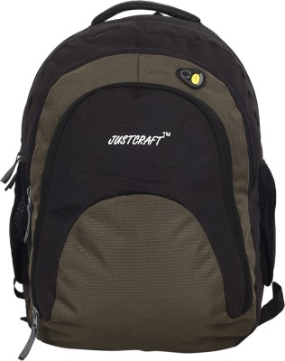Justcraft Tiger Black and Green 32 L Backpack