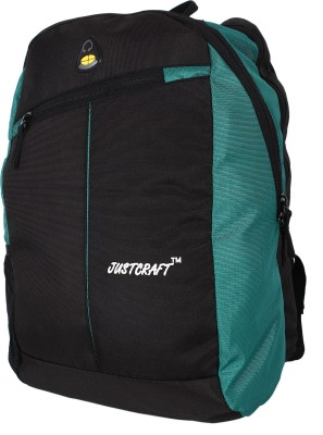 Justcraft Joyo Black and Green 30 L Laptop Backpack