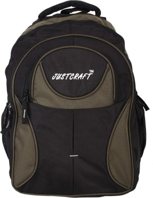 Justcraft Five Star Black and Green 30 L Backpack