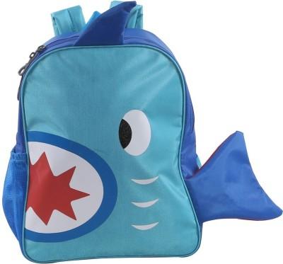 Bleu School Kids Bag - 14 Inches - Fish shape boys Girls Bag - 35 14 L Backpack