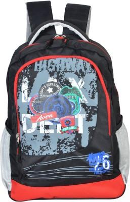Avon Highway Patrol Black & Red 26 Litres 30 L Backpack