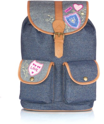 Shaun Design Denim Patchwork 8 L Medium Backpack