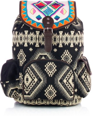 Shaun Design Black Jacquard with Laptop Protection 12 L Large Backpack