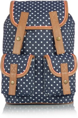 Shaun Design Polka Dots Denim 8 L Medium Backpack
