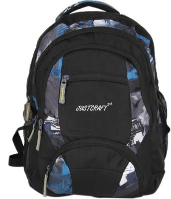 Justcraft Rajadhani Black and Printed 30 L Backpack