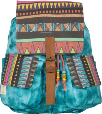 The House of Tara Printed Canvas 049 20 L Medium Backpack