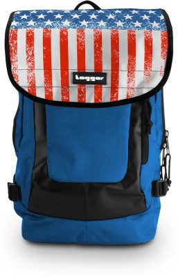 Tagger Urban Electro Stars & Stripes Bsly_olbl (Blue) Top Loaded Ultimate 21 L Laptop Backpack