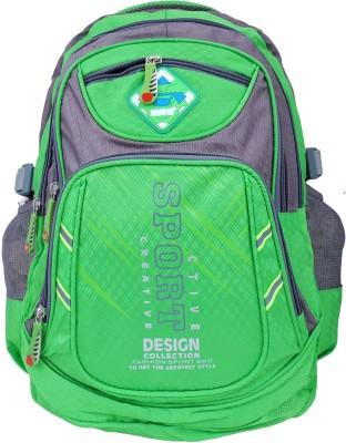 Super Drool Green Mesh Trek and Travel Series 10 L Backpack