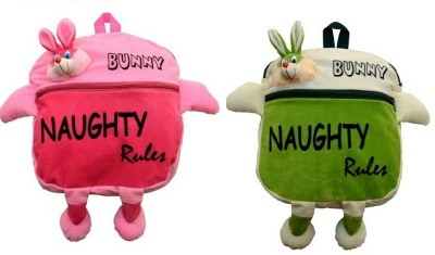 Pandora Kids School Bag - 2 Pack of Pink and Green Naughty 5 L Backpack