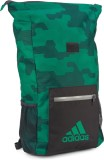 Adidas free size Backpack (Grey, Green)