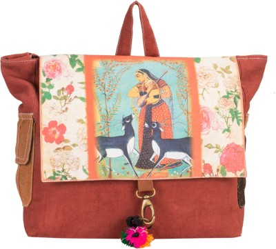 The House of Tara Canvas Miniature Painting Bag 10 L Medium Backpack