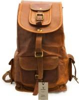 CRAFAT Vintage Genuine Leather 13 L Backpack(BROWN)