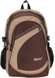 Comfy K09 20 L Backpack (Brown, Beige)