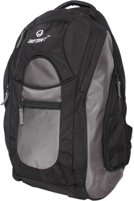 Justcraft Jabbaz Black and Grey 55 L Laptop Backpack