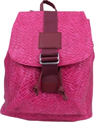 Super Drool Straw Texture Pink 12 L Backpack