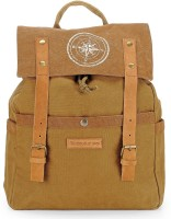 The House of Tara Dual Tone Canvas 15 L Backpack(Khaki)