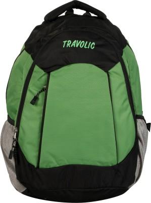 Travolic Contesa Black & Green 30 L Backpack