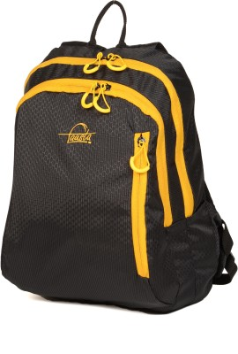 Fausta Black with Yellow Bamboo 15 L Backpack