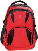 Bagathon India New Youngster Dual Color Backpack With Water & Dust Proof Rain Cover [RED] 25 L Laptop Backpack