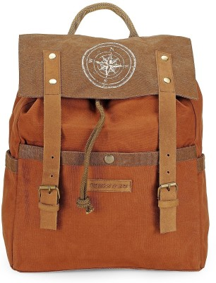 The House of Tara Dual Tone Canvas 15 L Backpack(Rust)