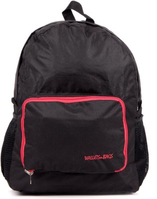 Walletsnbags Checker Foldable Blkrd 2.5 L Small Backpack