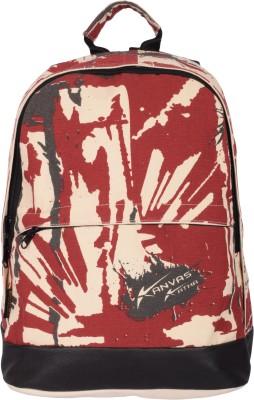 Kanvas Katha Fashion Canvas Printed 15 L Backpack(Ecru)