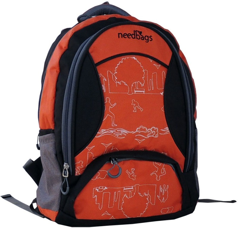 Needbags 400658 O 25 L Medium Laptop Backpack(Orange, Black)