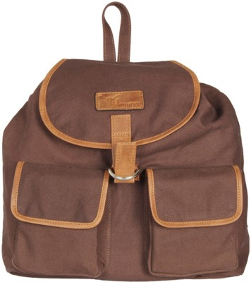 Hidemaxx Unisex Canvas-Leather 14 L Backpack(Brown)