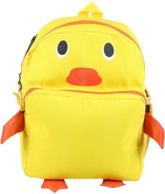 Bleu School Kids Bag - 14 Inches - Duck Shape Boys Girls Bag - 21 14 L Backpack