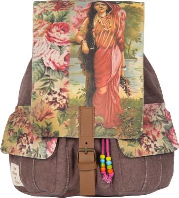 The House of Tara Printed Canvas 039 20 L Medium Backpack