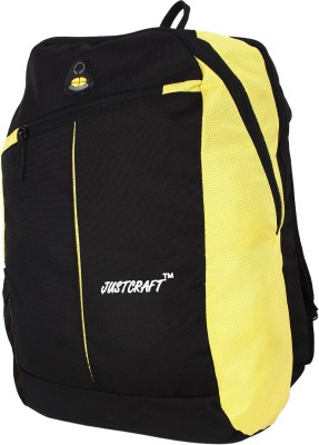 Justcraft Joyo Black and Yellow 30 L Laptop Backpack