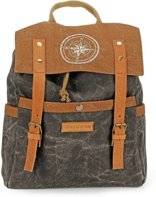 The House of Tara Dual Tone Canvas 15 L Backpack(Phantom Black)