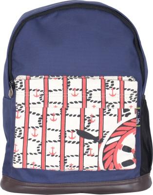 Kanvas Katha Fashion Canvas Printed 15 L Backpack(Navy Blue)