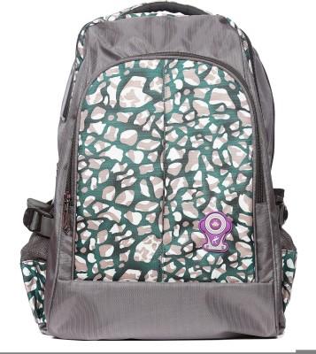 Raeen Plus Grey/Green-Pebbles- 10 L Backpack
