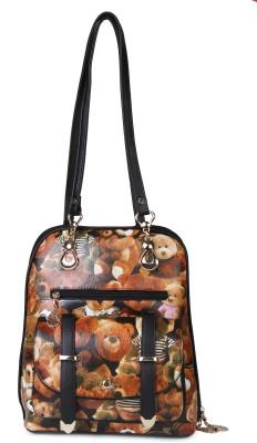 Kleio Teddy Printed Casual Backpack/ Sling Bag 1 L Backpack
